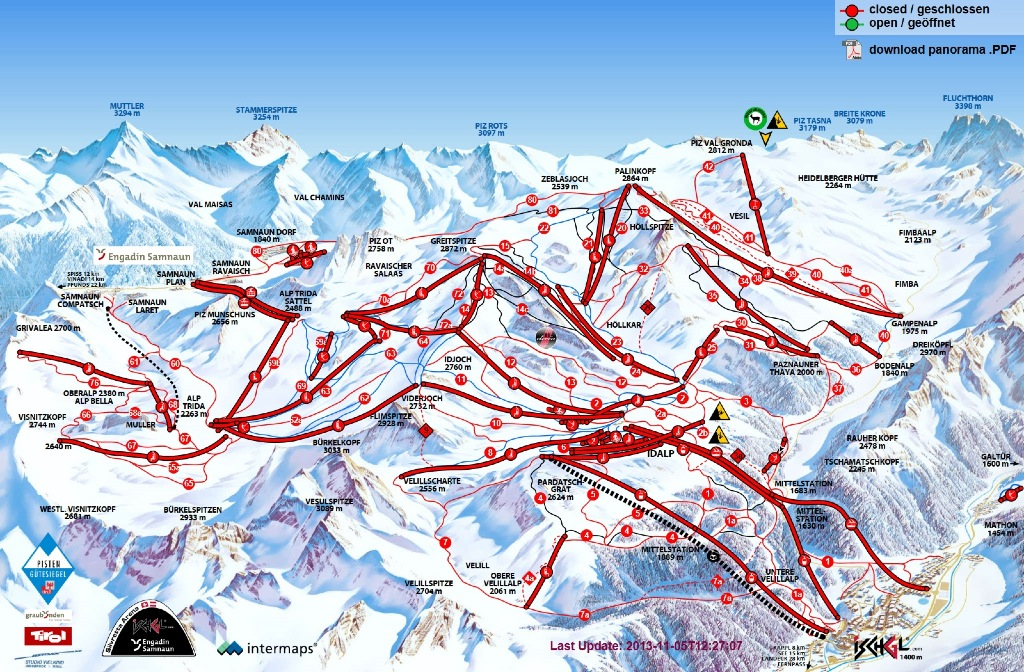 Ischgl map