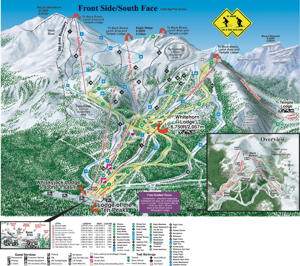 Lake Louise map