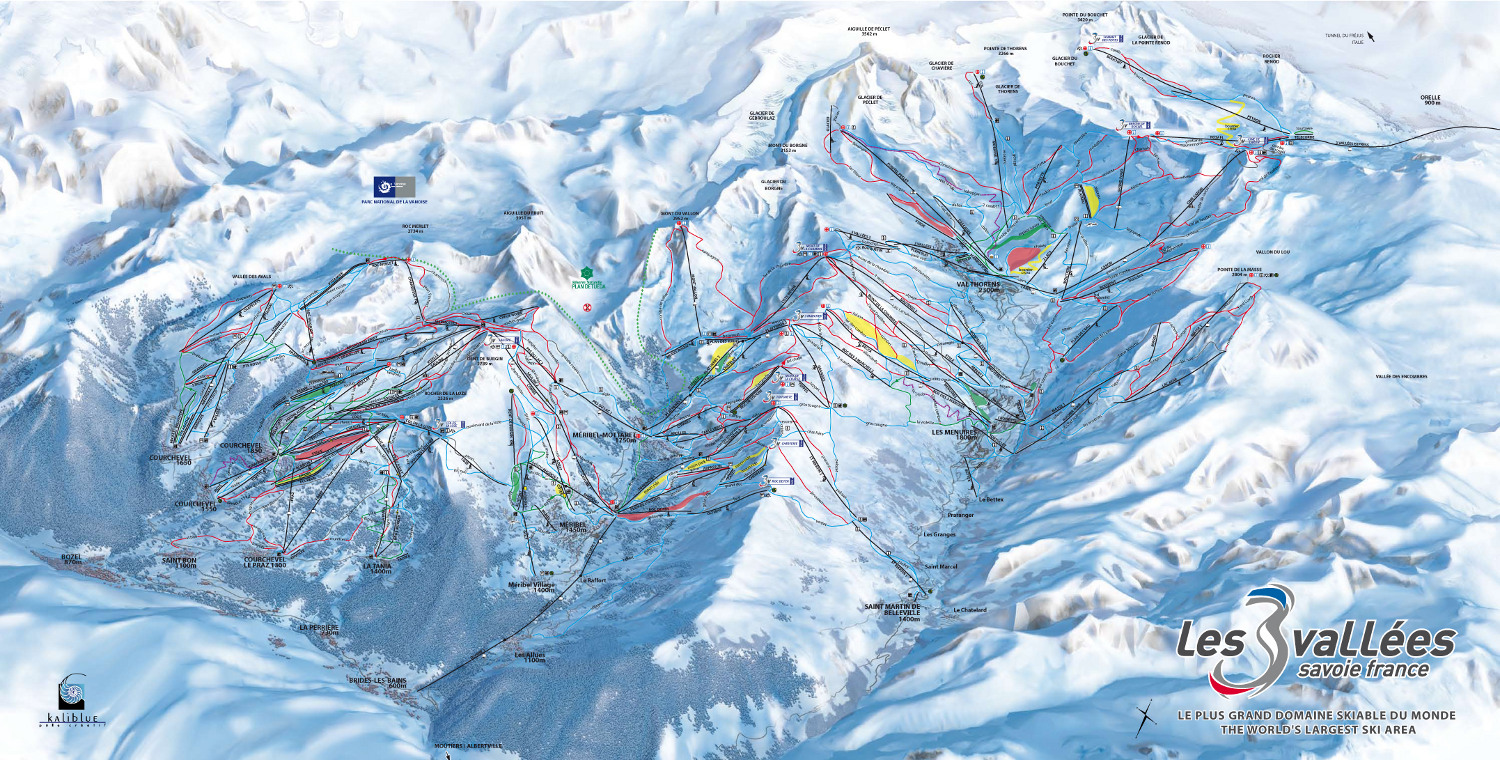 Val Thorens map