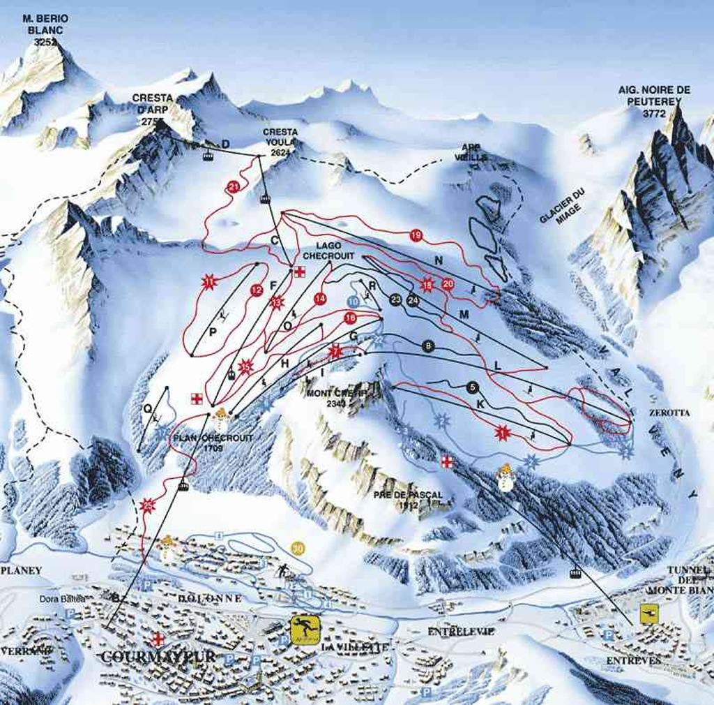 Courmayeur map