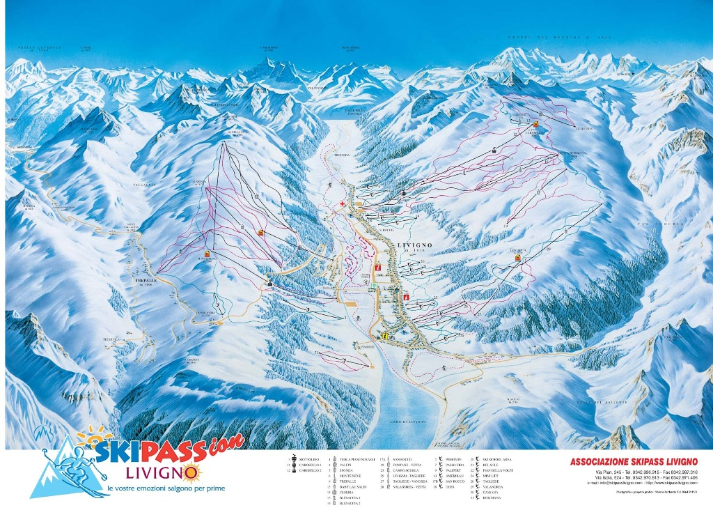 Livigno map