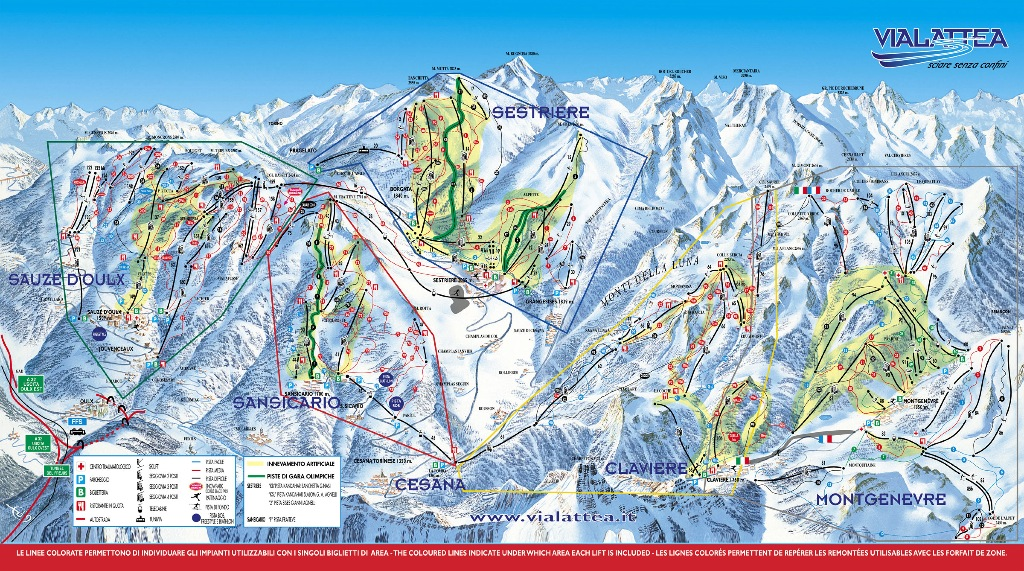 Sestriere map